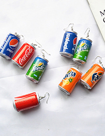 Fashion Coffee Simulation Cans Drink Bottle Resin Earrings