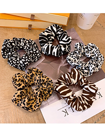 Fashion Black Leopard Large Bow Leopard Print Large Intestine Circle Hair Tie