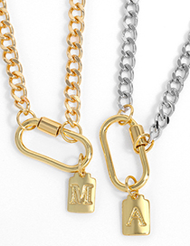 Fashion Z (without Chain) Gold-plated Copper Geometric Letter Pendant