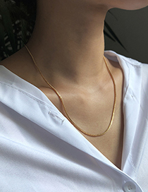 Fashion Golden Alloy Necklace