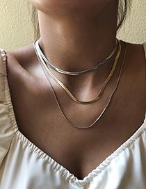 Fashion White K Long Alloy Necklace