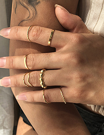 Fashion Golden 8-piece Alloy Geometric Ring