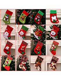 Fashion Sequined Small Socks (deer Style) Christmas Old Man Snowman Bear Christmas Stocking