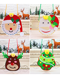Fashion Garland Christmas Childrens Handmade Puzzle Candy Bag Material Package