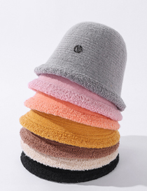 Fashion Pink Lace Letter Rivet Wool Knitted Basin Hat