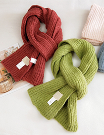 Fashion Camel Striped Letter Logo Knitted Wool Scarf