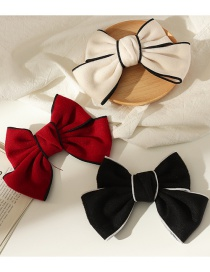 Fashion Red Big Bow Fabric Alloy Hairpin