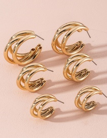 Fashion Golden Tuba Geometric Alloy Earrings