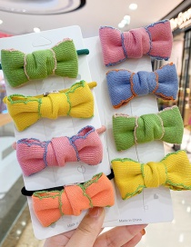 Fashion Orange Bow [hair Rope] Bowknot Fabric Alloy Childrens Hair Rope Hairpin