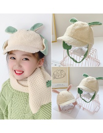 Fashion Purple Rabbit Ears 10 Months-5 Years Old One Size [adjustable] Childrens Hat With Cashmere Rabbit Ears