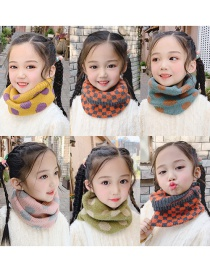 Fashion Bright Yellow Rhombus [bean Paste Purple] Reference Age 1-10 Years Old Polka Dot Lattice Thick Knitted Wool Scarf