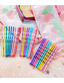 Fashion Wave Pattern Mixed Color 3 Dripping Alloy Contrasting Color Clip Set