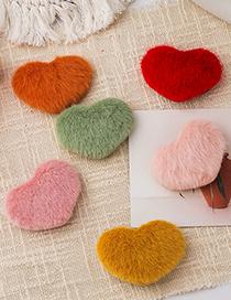 Fashion Beige Love Plush Alloy Hairpin