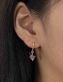 Fashion Gold Color Diamond-studded Grape Fruit Earring Set