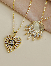 Fashion Gold Color Copper Inlaid Zircon Geometric Necklace