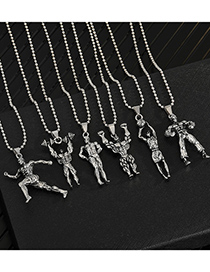 Fashion Boxer Muscle Mens Titanium Fitness Master Pendant Necklace