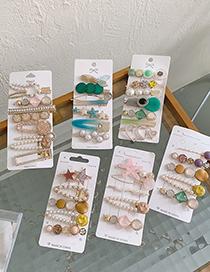 Fashion Golden Diamonds Diamond-studded Pearl Bow Hairpin