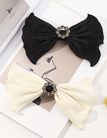 Fashion White Bow Lace Hairpin With Wood Ears