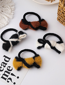 Fashion Black Hairy Knotted Hair Rope