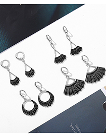 Fashion Style Four Justice Ginsberg Dripping Alloy Earrings