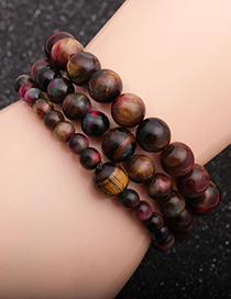 Fashion 6mm Peacock Tiger Eye Peacock Tiger Eye Beaded Stretch Mens Bracelet