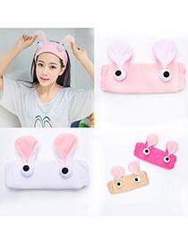Fashion Selling Cute Rabbit-gray Plush Bunny Ears Cartoon Big Eyes Headband