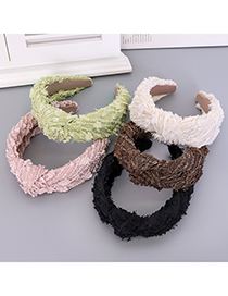 Fashion Green Knotted Headband Pure Color Fabric Knotted Headband