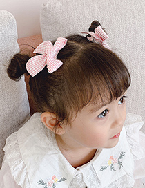 Fashion Khaki Bow Hairpin (pair) Childrens Houndstooth Bow Hairpin