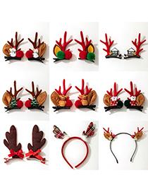 Fashion Bunny Ears Headband Christmas Antlers Santa Hairpin Headband