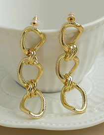 Fashion Gold Color Alloy Chain Earrings