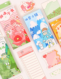 Fashion Ice And Snow Town Printed Cartoon Convenient Sticker Box