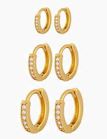 Fashion Small Gold-plated Copper Earrings With Zircon