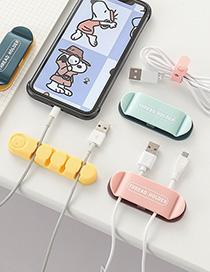 Fashion 4-color Plug Holder 4 Pieces Desktop Data Cable Self-adhesive Buckle Storage Artifact
