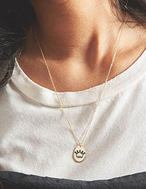 Fashion Steel Notes Stainless Steel Geometric Pendant Necklace