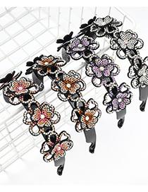 Fashion White Resin Diamond-studded Acrylic Flower Tooth Nail Headband