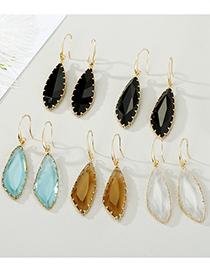 Fashion Geometric White Geometric Crystal Three-dimensional Faceted Glass Edging Earrings