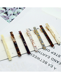 Fashion Yellow Marble Face Geometric Alloy Hairpin