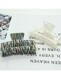 Fashion Ink Pattern Hairpin Ink And Wash Pattern Hollowed Out Geometric Grip Clip