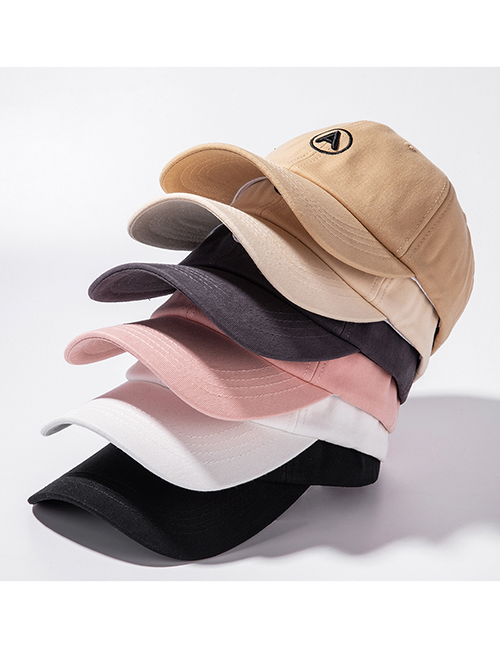 Fashion Pink Three-dimensional Letter Embroidery Cap