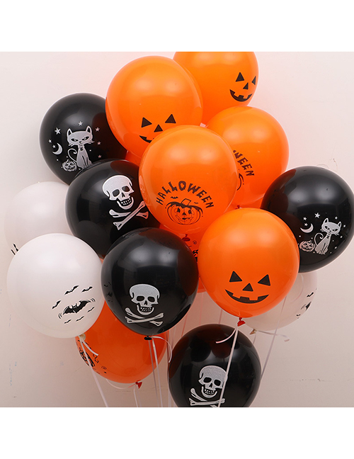 Fashion Smiley Pumpkins (about 100 Pieces) Halloween Printed Balloons (about 100 Pieces)