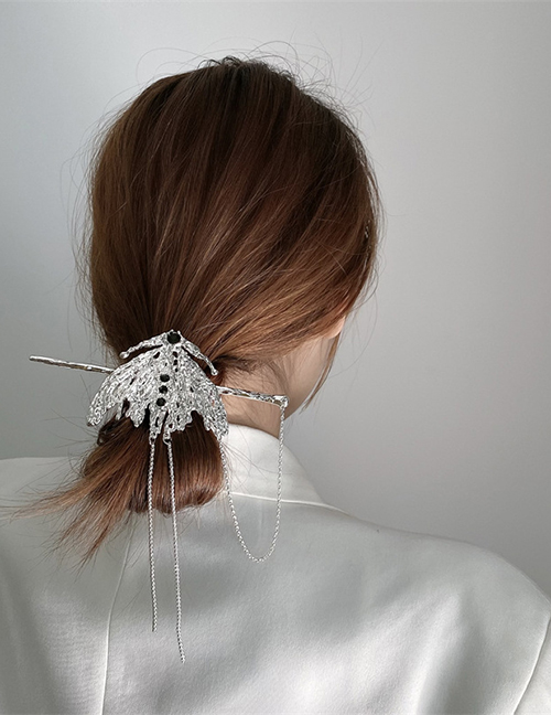 Fashion Silver Color Alloy Geometric Claw Chain Hairpin