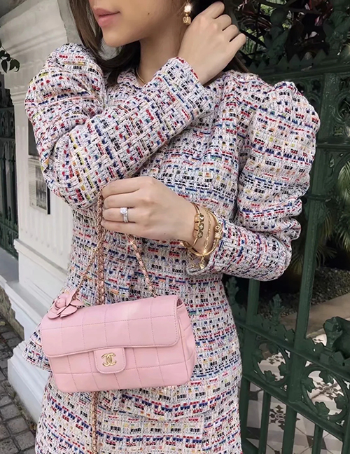 Fashion Color Sweater-breasted Jacket And Skirt Suit
