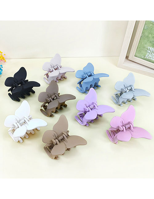 Fashion Light Pink Acrylic Frosted Butterfly Clamp