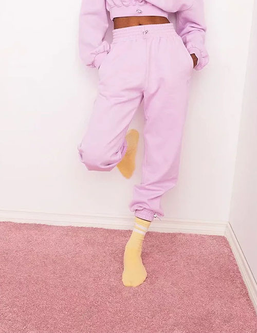Fashion Pink Sweatpants With Elasticated Ankle Pockets