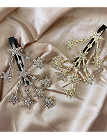 Fashion Golden Metal Rhinestone Hairpin