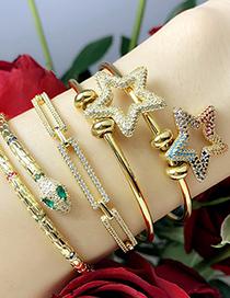 Fashion Chain Snake Letter Inlaid Zircon Chain Geometric Bracelet
