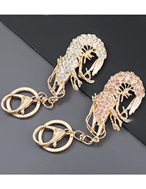 Fashion White Crab Alloy Diamond-studded Prawn And Crab Keychain Pendant