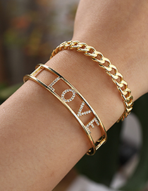 Fashion Golden Copper Chain Bracelet