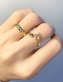 Fashion Cat Threaded Real Gold Plating Twist Cat Open Ring