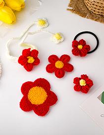 Fashion Send Money Flower Contrast Woven Hairpin Bracelet Brooch